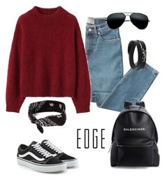 """""""Casual"""" by sarahyounes98 on Polyvore featuring Everlane, Vans, Balenciaga and Yves Saint Laurent"""