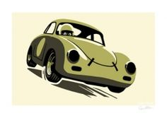 Classic Porsche 356 by Guy Allen | Car Gifts, Motoring Gifts and Merchandise | Gearbox Gifts