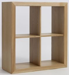 Compton Solid Oak Furniture 2 Plus 2 Cube Storage Bookcase Unit