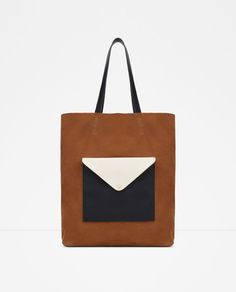 SUEDE HOLDALL WITH FRONT POCKET