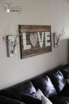 would be cute above the bed DIY wall vase by molli.nickerson