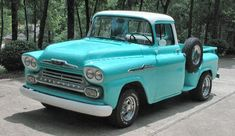 1958 Chevy Apache Truck I remember my Uncle Zeke had one just like this. Defender 90, Land Rover Defender, 1958 Chevy Truck, Classic Chevy Trucks, Chevrolet Trucks, Cool Trucks, Cool Cars, Dodge, Mustang