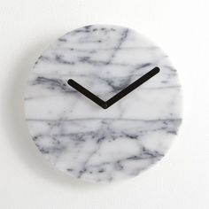 White Marble 12 in. Clock