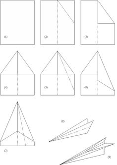 how to make a paper airplane | Fig 1: How to make a paper airplane