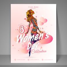 Vector poster 8 March womens day material