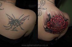 Rose flower tattoo,cover up tattoo,Gabi Tomescu.Extreme tattoo&piercing. Fort William.Highland.Realistic tattoo, Black and grey tattoo, Japanese tattoo, Traditional tattoo, Floral tattoo, Chinese tattoo, Fine line art tattoo, Old school tattoo, Tribal Tattoo, Maori tattoo, Religious tattoo, Pin-up tattoo, Celtic tattoo, New school tattoo, Oriental tattoo, Biomechanical tattoo #celtic #tattoos