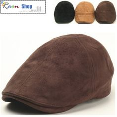 Men Fashion Hat ,Suede Feel Dark Brown Gatsby-Look Newsboy Flat Cap Cabbie | eBay