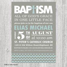 149 best invitations images on pinterest invitations birthday baptism invitation modern chevron boy or girl stopboris Gallery