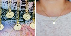 Perfect Gold/Silver Initial Necklace by AngelSaleDeals on Etsy