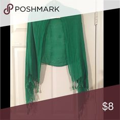 Scarf/stole/cape Gorgeous Kelly green scarf or wrap. Has never been worn. Washed once to get rid of wrinkles! Accessories Scarves & Wraps