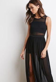 Mesh Overlay Maxi Dress | Forever 21 - 2000132254