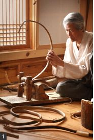 Horn bow making.