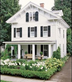 pretty white clad house