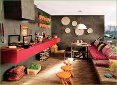 Saiba como montar uma varanda gourmet no seu apartamento! #varanda #varandagourmet #apartamento #decoracao #sacada