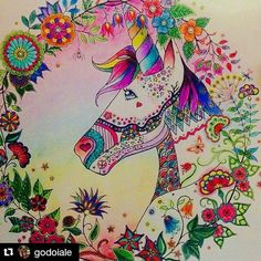 Johanna Basford Enchanted Forest Unicorn Pictures
