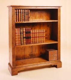 Open oak bookcase