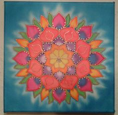 Selyem mandala 20x20cm. Mandala, Mandalas
