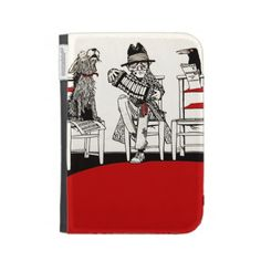 A Concert Party with Dog Crow Old Man Accordion Kindle 3 Cases #vintage #art #music #iconographique