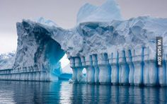 Natural ice gate