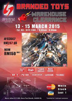 13-15 Mar 2015: Litt Tak Warehouse Sale for Branded Toys Clearance
