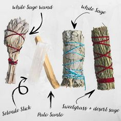 Cleanse and purify your home from negativity with our smudge stick variety bundle. + White Sage is wonderful for cleansing your space of negative thoughts or stagnant energy. + Burning sweetgrass in your home creates a calming effect and attracts positive Smudging Prayer, Sage Smudging, Burning Sage, Spiritual Cleansing, Baby Witch, Wiccan, Witchcraft, Smudge Sticks, Book Of Shadows