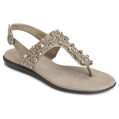 Women's A2 by Aerosoles Glee Chlub Embellished Thong Sandals - Silver 5.5