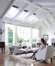 Revitalize your home and invigorate your spirit by bringing the best of the outdoors in! These tips from VELUX skylights will help you transform your living space into a calming, spa-like retreat. House Extension Design, House Design, Sleeping Loft, Dream Apartment, House Windows, Dream House Plans, Home Additions, New Home Designs, Skylights