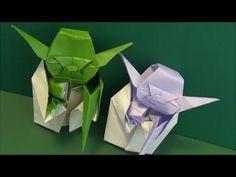 Origami Jedi Master Yoda Tutorial (Fumiaki Kawahata) 折り紙 ヨーダ оригами учебник Мастер Yoda - YouTube