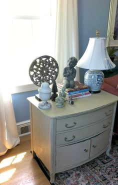 Living Room ~ small chest painted with Annie Sloan Chalk Paint