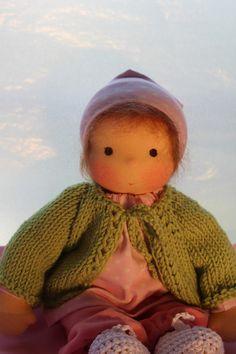 Waldorfpuppen - Waldorf baby doll 32 cm - ein Designerstück von Barbarillia bei…