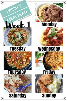 I hope you love the meals plans and find them helpful for your family! Here is what we are eating! Easy Weekly Meal Plan Week 1