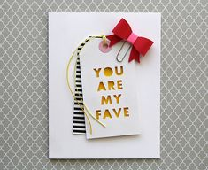 Inspiration: Silhouette cut tag card by Laura Bassen