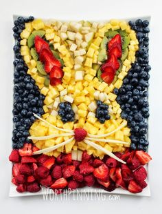 Bunny Head Fresh Fruit Platter. Adorable.