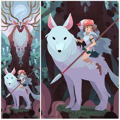 Studio Ghibli, Princess Mononoke, Totoro, Pop Culture, Moose Art, Disney Characters, Fictional Characters, Photo And Video, Painting