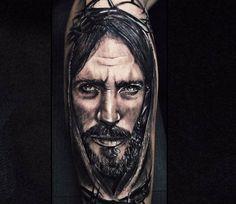 tattoo portrait of jesus christ. Black Bedroom Furniture Sets. Home Design Ideas