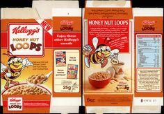 UK - Kellogg's - Honey Nut Loops - NEW - single portion cereal box - 1991 by JasonLiebig, via Flickr