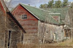 The ghost town at Balaclava, Ontario, Canada  Log barns, Renfew County, Ontario, Canada