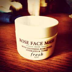 Fresh Rose Face Mask. Again made by that wonderful organic company made from real rose petals and is good for any type of skin even oily to add pure hydration and gently cleanses impurities.