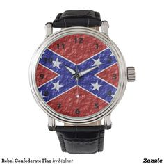 Rebel Confederate Flag Wrist Watch