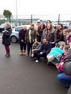 Jamie Dornan with lucky fans on January 13, 2016 in Belfast http://everythingjamiedornan.com/gallery/thumbnails.php?album=36 http://www.facebook.com/everythingjamiedornan