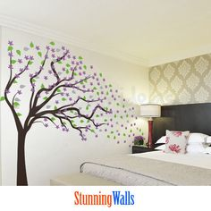 Cherry Blossom Tree  Blowing in the Wind   wall by StunningWalls, $122.00