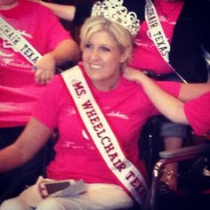 Ms. Wheelchair Texas 2013 is Haley Cornelius!