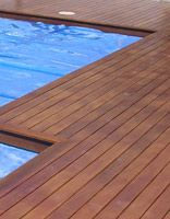 wooden pool deck
