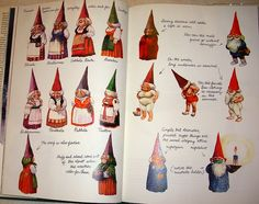 Gnomes book illustrations