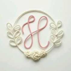 I cord around wire Diy Crafts To Sell, Handmade Crafts, Copper Wire Art, Crochet Letters, Spool Knitting, Crochet Decoration, Ideias Diy, Wire Crafts, String Art