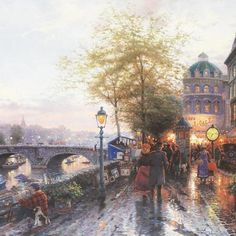 Thomas Kinkade - Paris, Eiffel Tower - City Of Lights