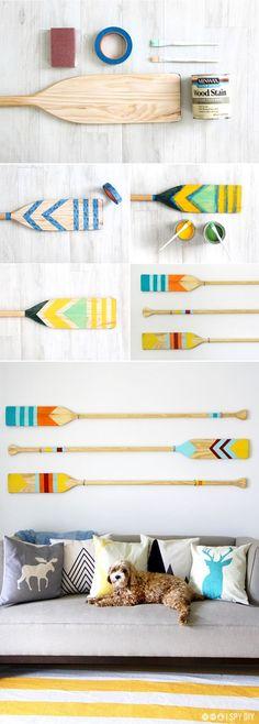 » MY DIY | Colorful Camp Oars