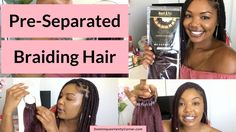 """Pre Seperated Braiding Hair with """"My Expert 24"""" RASTAFRI Kanekalon hair natural hair, natural haircare, protective styles, deep conditioner, shampoo, twist outs, natural hair care products, kinky curly, type 4 hair, 4c hair, big chop, transitioning, afro, finger coils, flat twist outs, braids, braid outs, eco styler, Black Jamaican Castor oil, JBCO, hot oil treatment, steam treatment"""