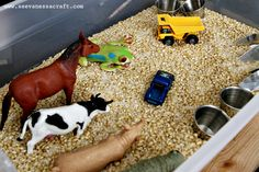Little Blue Truck Sensory Bin 1 websized Farm Birthday, Third Birthday, Diy Birthday, 2nd Birthday Parties, Birthday Ideas, Party Activities, Craft Activities For Kids, Toddler Activities, Toddler Learning
