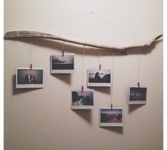 9. #Driftwood with Strings - 30 #Perfect Ideas for #Photo Display ... → DIY #Catching
